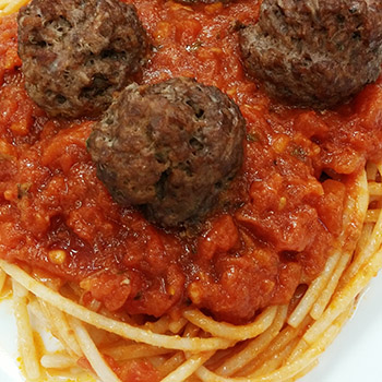 Portions Spaghetti and Meatballs