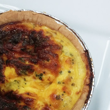 Portions Broccoli and Cheddar Quiche