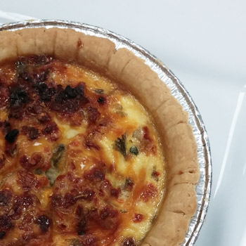 Portions Spinach and Mushroom Quiche