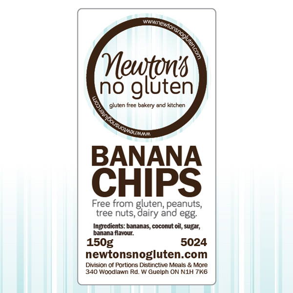 Newton's No Gluten Dried Banana Chips