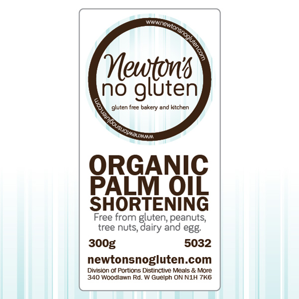 Newton's No Gluten Organic Palm Oil Shortening