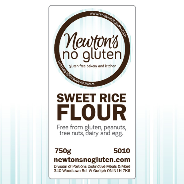 Newton's No Gluten Sweet Rice Flour Tag