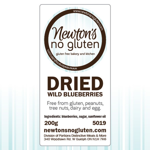 Newton's No Gluten Dried Wild Blueberries